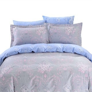 Dolce Mela Naxos 6-piece Cotton Duvet Cover Bedding Set with Fitted Sheet