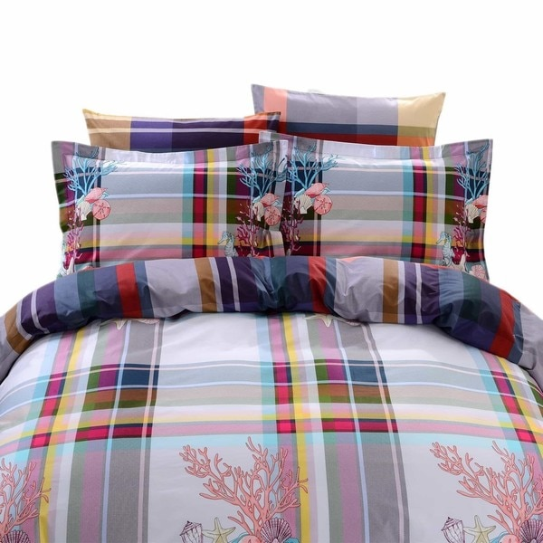 Dolce Mela Hydra 6-piece Cotton Duvet Cover Bedding Set with Fitted Sheet