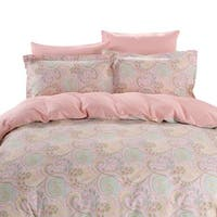 Dolce Mela Corfu 6-piece Cotton Duvet Cover Bedding Set with Fitted Sheet