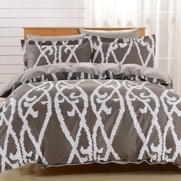 Dolce Mela Modena 6-piece Cotton Duvet Cover Bedding Set with Fitted Sheet