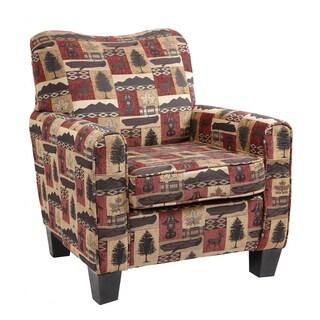American Furniture Classics Hunting Cabin Print Club Chair