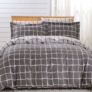 Dolce Mela Trento 6-piece Cotton Duvet Cover Bedding Set with Fitted Sheet