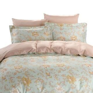 Dolce Mela La Palma 6-piece Cotton Duvet Cover Bedding Set with Fitted Sheet