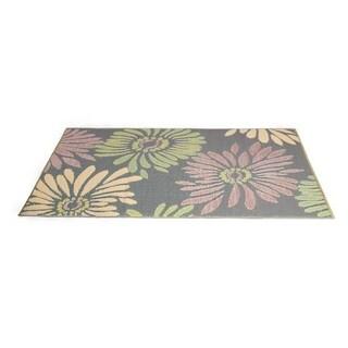 Daisey Reversible Indoor/ Outdoor Mat (4' x 6') (Option: Purple)