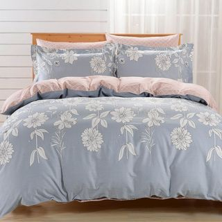 Dolce Mela Siena 6-piece Cotton Duvet Cover Bedding Set with Fitted Sheet