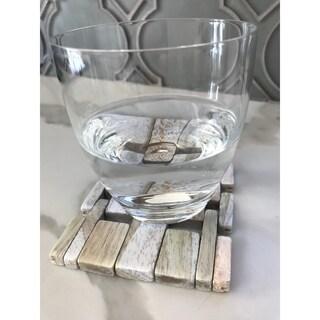 Rosewood Coaster with White Wash Finish IPM082 (set of 4)