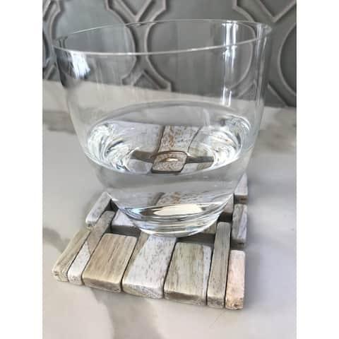 White Washed Rosewood Coaster IPM082 (set of 4)