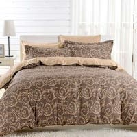 Dolce Mela Bolzano 6-piece Cotton Duvet Cover Bedding Set with Fitted Sheet