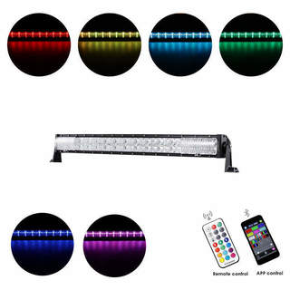 32-inch 180W Rgb Curved Combo RGB Cross-Style Beam LED Light Bar
