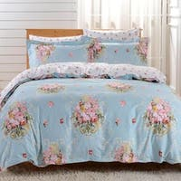 Dolce Mela Livorno 6-piece Cotton Duvet Cover Bedding Set with Fitted Sheet