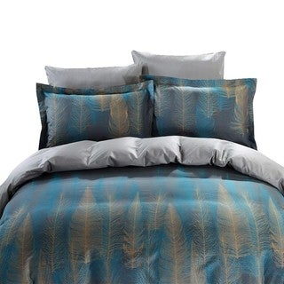 Dolce Mela Voluptuous 6-piece Cotton Duvet Cover Bedding Set with Fitted Sheet