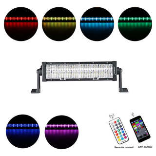 Auxbeam 60 W RGB Straight Combo Beam LED Color Changing Light Bar (RGB Cross-Style Drill)