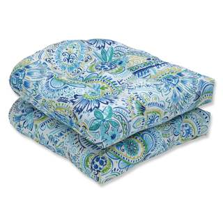 Pillow Perfect Outdoor/ Indoor Gilford Baltic Wicker Seat Cushion (Set of 2)