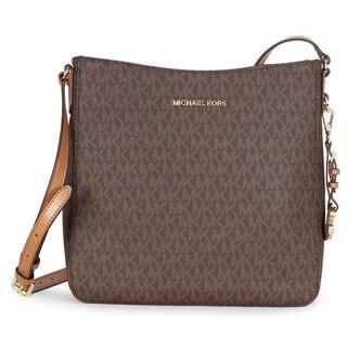 Michael Kors Jet Set Travel Large Brown Logo Crossbody Handbag