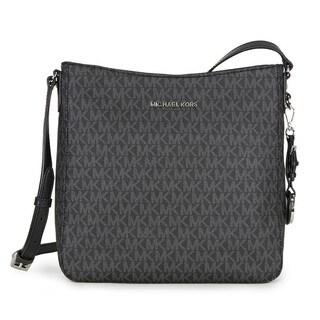 Michael Kors Signature Jet Set Large Black Travel Crossbody Handbag