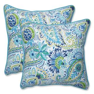Pillow Perfect Outdoor/ Indoor Gilford Baltic 18.5-inch Throw Pillow (Set of 2)