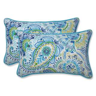 Pillow Perfect Outdoor/ Indoor Gilford Baltic Rectangular Throw Pillow (Set of 2)