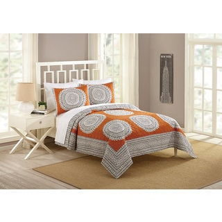 Peking Handicraft Artistic Queen Size Cotton 3-piece Quilt Set