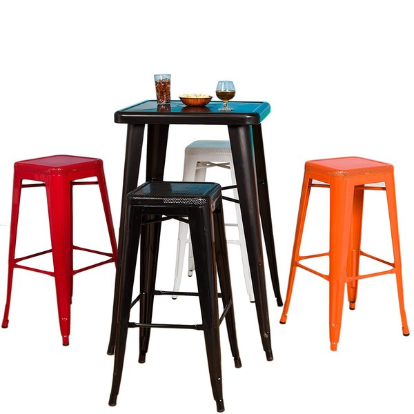 Shop 30 Inch High Backless Metal Bar Stools Set Of 2