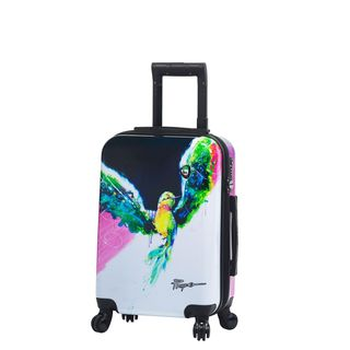 Mia Toro ITALY Prado-Exotic Life 22-inch Hardside Spinner Carry-On Suitcase