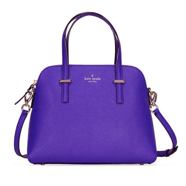 Purple Leather Satchel Handbag | Luggage And Suitcases