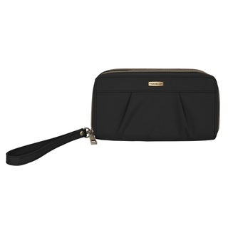 Travelon Signature Crinkle Double-zip Clutch Wallet