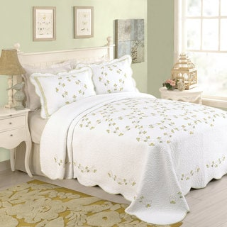 Peking Handicraft Rosaria Cotton Bedspread (Shams Not Included)