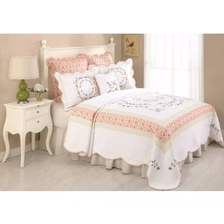 Peking Handicraft Claire Floral Cotton Bedspread (Shams Sold Separately)