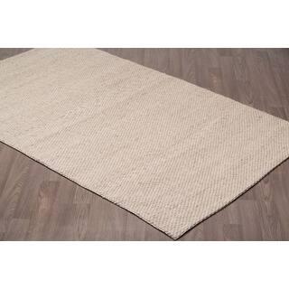 Scandinavian Berber Ivory Beige Wool Handmade Rug