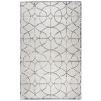 Rizzy Home Monroe Denim Trellis Hand-tufted Wool and Viscose Area Rug (9'x12')