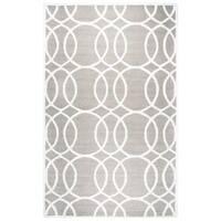 Rizzy Home Monroe Grey Wool Hand-tufted Geometric Area Rug (8' x 10')