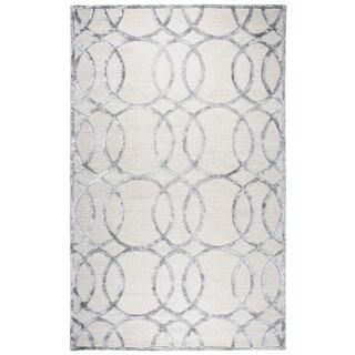 Rizzy Home Monroe Cream Wool Hand-tufted Geometric Area Rug (9'x12')