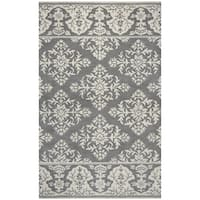 Rizzy Home Marianna Fields Grey Wool Hand-tufted Medallion Damask Area Rug (8' x 10')