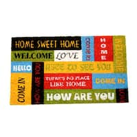 Welcome Sentiments Coir Door Mat (18 Inch x 30 Inch)