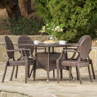Glendale Outdoor Square Wicker 5-piece Dining Set by Christopher Knight Home