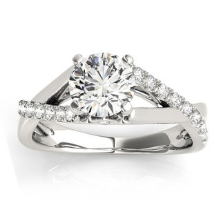 Transcendent Brilliance 14k White Gold 3/4ct TDW White Diamond Split Shank Engagement Ring