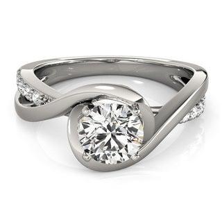 Transcendent Brilliance 14k White Gold 1 1/4ct TDW White Diamond Intertwined Engagement Ring (G-H, VS1-VS2)
