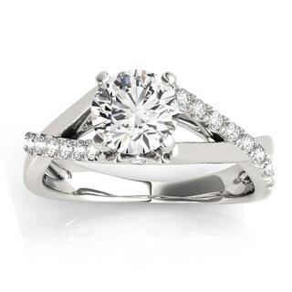 Transcendent Brilliance 14k White Gold 1 1/2ct TDW White Diamond Split Shank Engagement Ring (G-H, SI1-SI2)