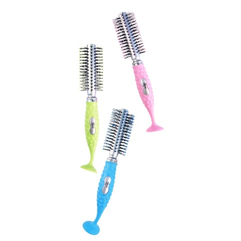 Round Suction Hairbrush (Pack of 3)
