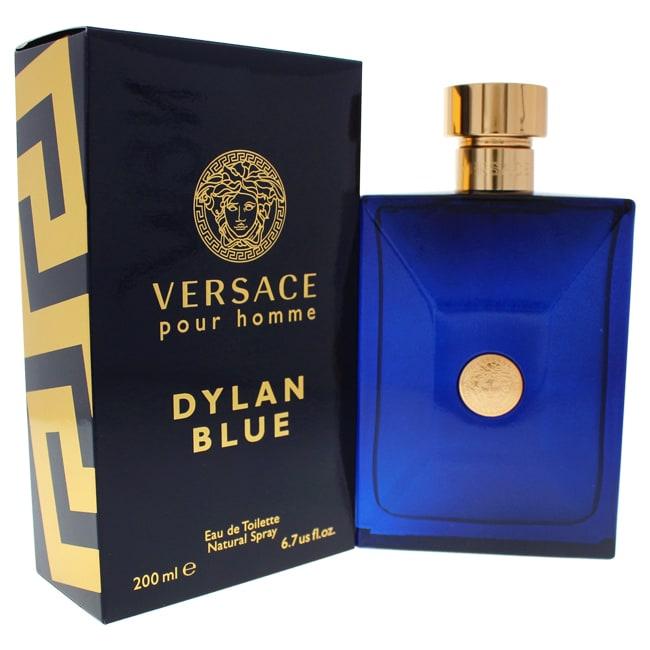 Versace Dylan Blue Eau de Toilette Spray for Men, 6.7 oz (Fresh - EDT Eau De Toilette)