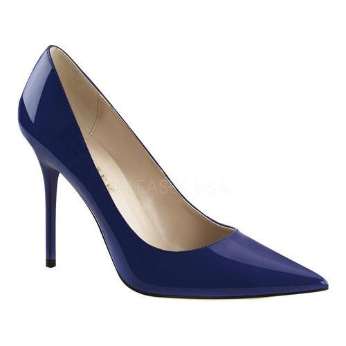 Shop Women s Pleaser Classique 20 Pump Navy Blue Patent - Free ... ff60106feedb