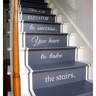 Quotes Staircase Stairway Stairs Phrase Art Mural Vinyl Decal Sticker  Interior Design Decor Sticker Decal Size