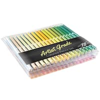 Colored Pencil Set 72 Count Pre-Sharpened Adult Coloring Drawing Sketch Art in Case by Artist Grade