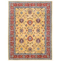 Herat Oriental Afghan Hand-knotted Vegetable Dye Oushak Wool Rug (10' x 13'8)