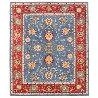 Herat Oriental Afghan Hand-knotted Vegetable Dye Oushak Wool Rug (8'3 x 9'10)