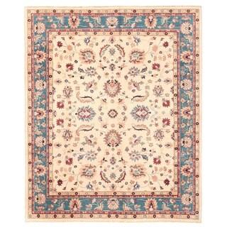 Herat Oriental Afghan Hand-knotted Vegetable Dye Oushak Wool Rug (7'10 x 9'8)