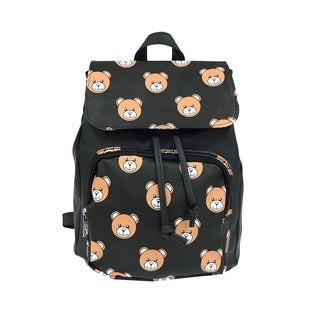 Alfa Pop Art Black Bear Faces Fashion Backpack