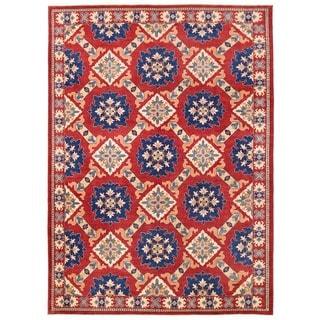 Herat Oriental Afghan Hand-knotted Vegetable Dye Khotan Wool Rug (8'9 x 12'1)