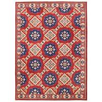Herat Oriental Afghan Hand-knotted Vegetable Dye Khotan Wool Rug - 8'9 x 12'1
