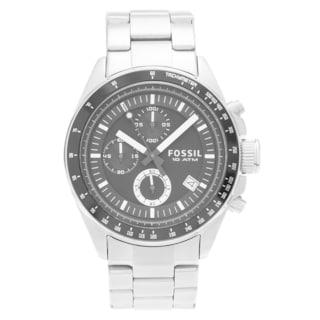 Fossil Men's 'Decker' CH2600IE Stainless Steel Black Chronograph Dial Link Bracelet Watch